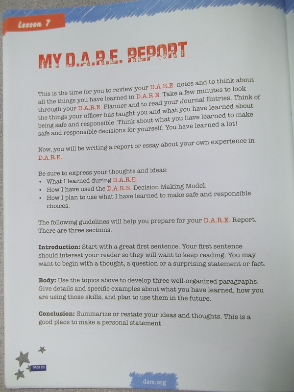 Dare illustration essay format